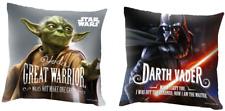 Star Wars Kissen, Wendekissen / Darth Vader und Yoda, 40 x 40 cm, gefüllt