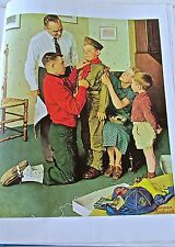 Norman Rockwell  Mighty Proud 16x11 Offset Lithograph Unsigned a Boycott