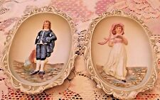 Lefton Pinkie Lawrence & Blue Boy Wall Plaque Set - KW3504