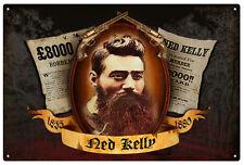 NED KELLY SOUVENIR/MEMORABILIA (AUSTRALIAN BUSH RANGER) TIN SIGN 20 x 30 cm