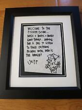 Pearl Jam signed drawing from fan club letter coa + Proof! Jeff Ament original
