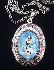 FROZEN Orlaf Snowman Elsa Disney Silver Children's Locket and Necklace Christmas