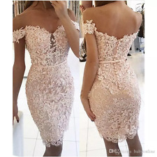 New Short Mermaid Wedding Dresses Off The Shoulder Beaded Lace Bridal Gowns
