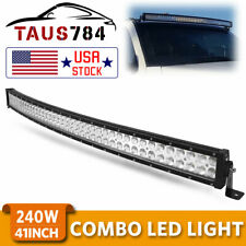 42inch 240W Curved Led Work Combo Flood Spot Light Bar Driving ATV 4WD PK 40/44