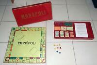 MONOPOLI Editrice Giochi 1955 in LIRE - scatola lunga ROSSA Monopoly