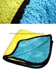 SERIOUS PERFORMANCE 50x80cm 720gsm ULTRA MICROFIBRE & DRYING TOWEL - BL/YL