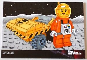 Space 1999 (Series 4) Unstoppable LEGO Sketch Card Art Created by Scott Fellowes