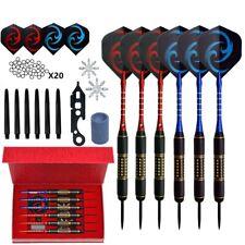 6PCS Set 28g Professional Steel Tip Darts Aluminum Shaft Dart Flights Sports
