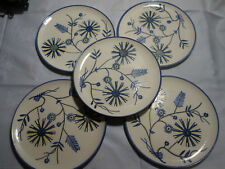 5 Teller  SMF  Schramberg Majolika handgemalt aus Teeservice 19,3 cm Blumendekor