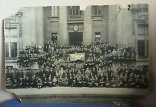 "Rare Yale University 1915 School & Students Bird Eye View Photo 15"" x 21"""