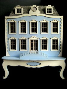 Exquisite 1/48th 1:48 quarter scale doll house on its own plinth~Celia Mayfield