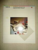 Vintage 1980's ProDOS Supplement to the Apple IIe Owner's Manual Computer System