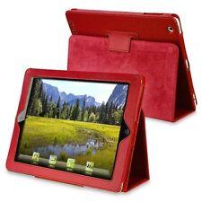 Ledertasche mit Standfuss Kompatibel mit Apple iPad 2/3/4, Rot K1B9