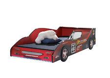 Autobett Rennbett 90*200 Rot Hochglanz ink LED-Beleuchtung Spielbett Kinderbett