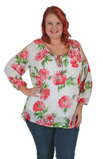 Chiffon Evening, Occasion Long Sleeve Floral Tops & Blouses for Women