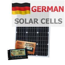 60 W 12 V Batería Dual Kit de panel solar para Camper/Barco Con Controlador (60 vatios)