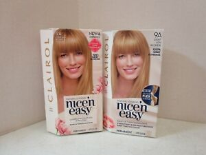 2 CLAIROL NICE'N EASY NATURAL LOOKING PERMANENT 9A LIGHT ASH BLONDE MM 20931
