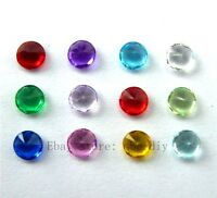 12pcs Round style 5*5mm Crystal Birthstone Charm For Living Floating locket
