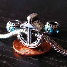 Anchor European Bead And Birthstone Spacers For Charm Bracelets And Necklaces