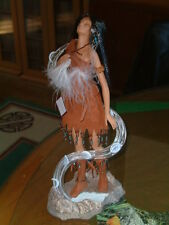 SEVEN MOONS RISING INDIAN FIGURE STATUE DOLL BRADFORD EXCHANGE NATIVE AMERICAN