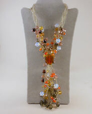 *ONE OF A KIND* MULTI STONE BEAD STERLING SILVER NECKLACE