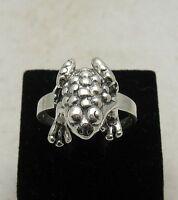 Echte Sterling Silber Ring Frosch solide punziert 925 handgefertigt