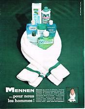 PUBLICITE  1964   MENNEN cosmétiques aprés rasage