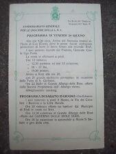 1927 PIROSCAFO NEPTUNIA PROGRAMMA DELL'ESCURSIONE DELL'ISOLE EGEE DI COO E RODI