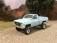 1979 Chevy K10 4x4 Truck Lifted 1/64 Diecast Custom Auto World Farm Square Body