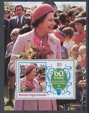 British Virgin Islands Block Queen Elizabeth 60 Geburtstag Tuvalu postfrisch **