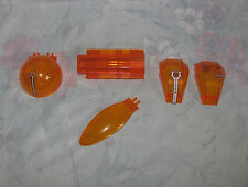 Lego Transparent Trans Orange Mars Mission Space Windscreen/Canopies lot