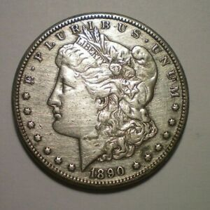 1890 CC MORGAN DOLLAR XF DETAIL