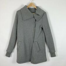 Stem XS Jacket Double Breasted Gray Sweatshirt Long Womens
