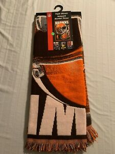 """Cleveland Browns NFL 48"""" x 60"""" Triple Woven Blanket/Throw Northwest Company New"""