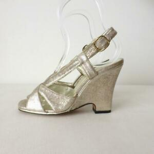 MARC JACOBS Silver Lurex Shoes Wedges Size 38 Made in Italy