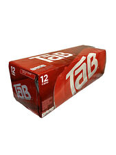 TAB Cola 12-Pack Soda Soft Drinks Unopened Discontinued Sold Out🔥