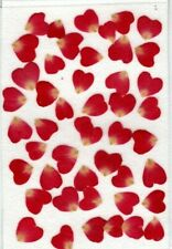 REAL PRESSED FLWS 50 BRIGHT RED ROSE PETALS IDEAL FOR CARD MAKING & FLORAL CRAFT