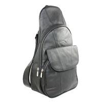 Genuine Leather Backpack Chest Pack Daypack Sling Bag Shoulder Bag