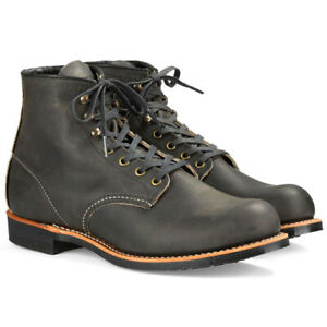 Red Wing Blacksmith Leather Boot Men Charcoal Rough & Tough