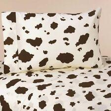 Twin Bed Sheet Set for Sweet Jojo Wild West Cow Print Boys Western Kids Bedding