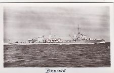 "Kriegsmarine Real Photo. ""Bremse"" Artillery Training Ship. Sunk in WW11   c 1933"