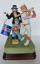 "Norman Rockwell Museum ""Casey At Bat"" Porcelain Musical Baseball Figurine"