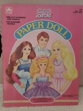 Vintage  Jewel Secrets Barbie Doll Paper Dolls New Uncut 1987 Golden