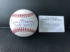 Leaf Authenticated Pristine Signed Baseball 2003 HALL OF FAME Eddie Murray
