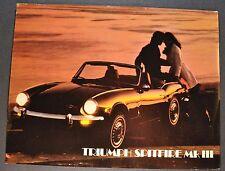 1970 Triumph Spitfire Mk III Sales Brochure Sheet Nice Original 70