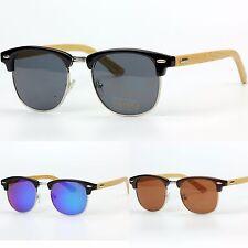 Classic Unisex Sunglasses UV400 Retro Vintage Wood Temples