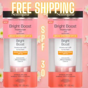 Neutrogena Bright Boost Moisturizer With Sunscreen SPF 30 1 Oz NEW IN BOX