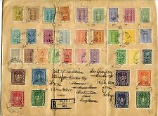 AUSTRIA 1922-23 INFLATION ISSUES on VERY LARGE REGISTERED ENVELOPE...FAULTS