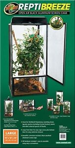 ZooMed Zoo Med ReptiBreeze Screen Cage, 46 x 46 x 92 cm Large - Chameleon