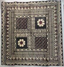 "Geometric Flower Handmade Paper Art Polynesian  25"" X 24"" FoundArtShop.com"